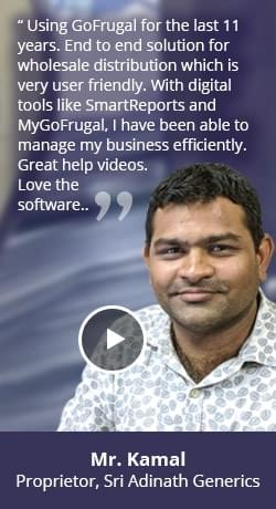 Distributor software happy customer - Sri Adhinath Generics