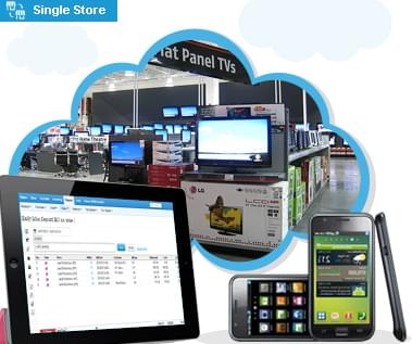 Electronics store hosted saas pos software