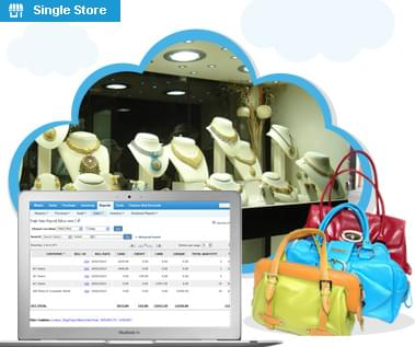 Apparel single, multiple store web based pos software