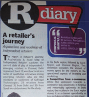 A Retailer's Journey 2015 - coverage in times of India newspaper