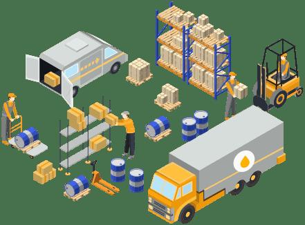 Lubricant dealer management software