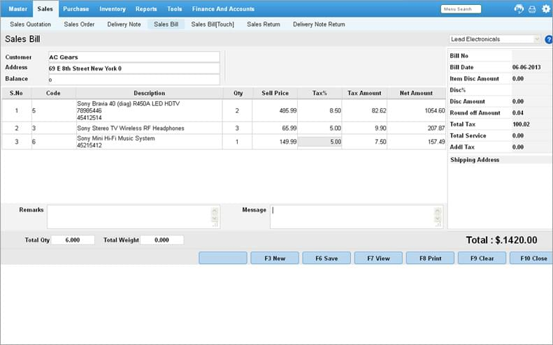 visual tour of online pos software screenshots billing reports