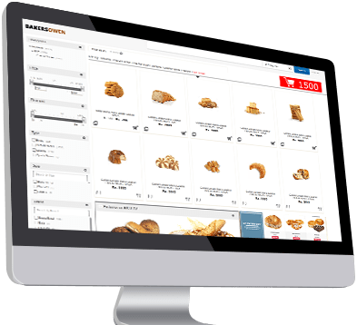E commerce integration for bakery shops