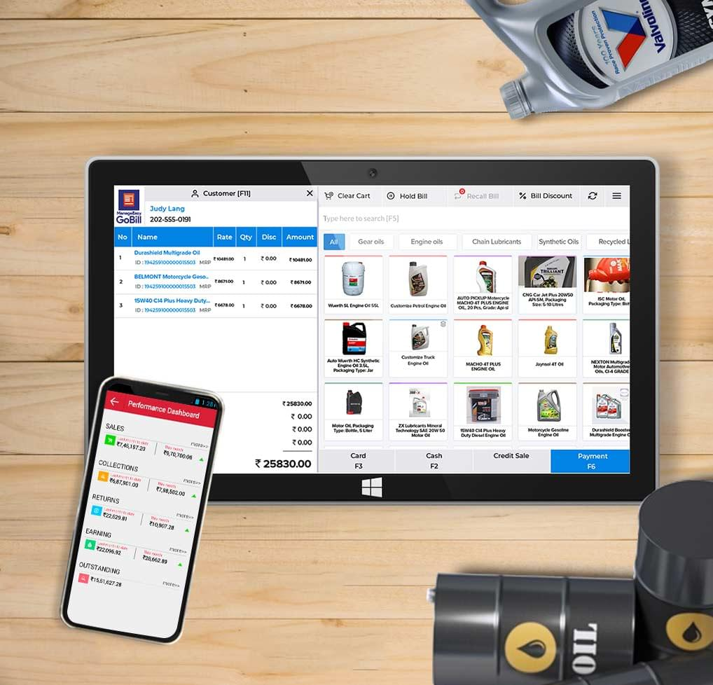 Lubricant distribution management software