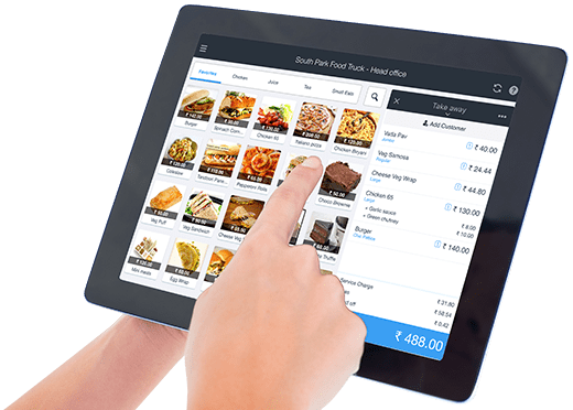 Touch billing for fast food shop
