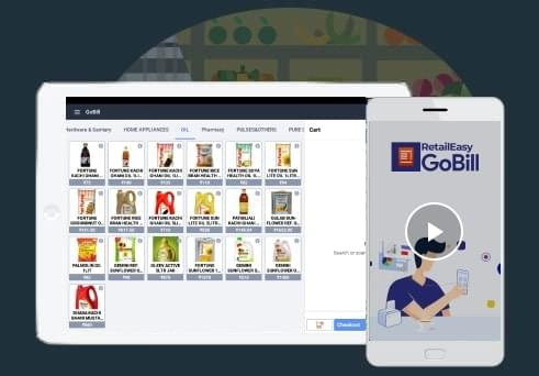 Touch billing for retail groceries